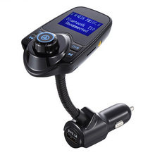 New Bluetooth 4.0 Car Kit Handsfree Set FM Transmitter MP3 music Player 5V 2.1A USB Car charger, Support Micro SD Card