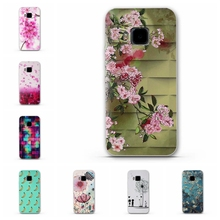 Colorful Flower Pattern Luxury Phone Case Back Cover for HTC One Hima M9 Cases Fashion Phone Back Cover for HTC One Hima M 9 HTC