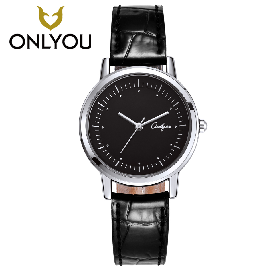 ONLYOU Creative Design Watches Women Fashion Casual Ladies Leather Watchband Waterproof Quartz Watch Girls Female reloj mujer <br>