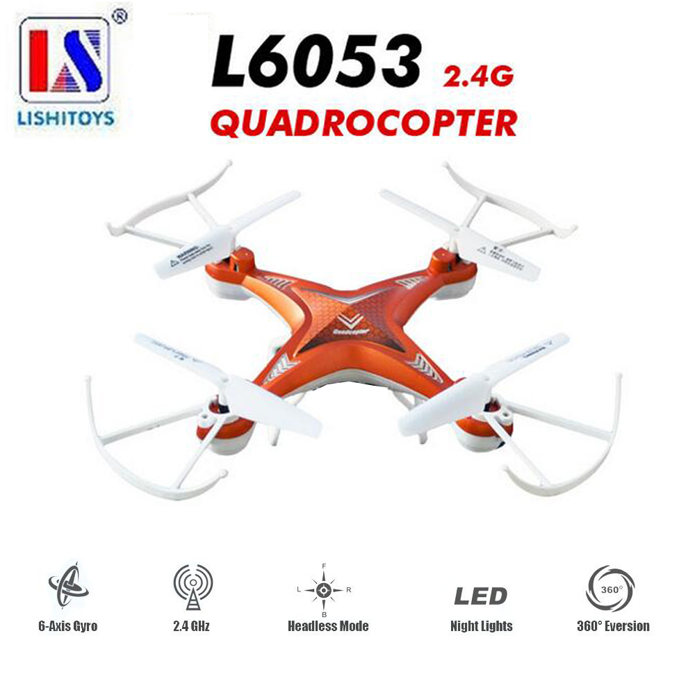 Lishitoys L6053 Standard Version 2.4GHz 4CH 6-Axis Gyro RTF RC Quadcopter Drone with Headless Mode without Camera<br>
