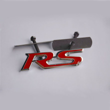 3D Metal RS Grill  Emblem Sticker Badge Car Styling For Audi Ford Focus Chevrolet Skoda Octavia Mazda Hyundai Opel RACE SPORT
