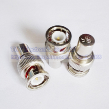 BNC Male Plug Terminator Termination 50OHM 50 ohm RF Adapter, BNC Male Terminator - 50 Ohm Connector , 8Pcs ,Free shipping