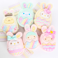 4Inch Original 6 Style Melody Plush Coin Bags Cute Cartoon Hello Kitty Coin Purses For Girls Wallent Christmas Gifts Bags