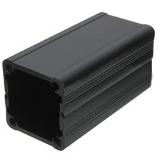 Black Aluminum Enclosure Case DIY Extruded Electronic Project Box 50x25x25mm Mayitr For Power Supply Units(China)