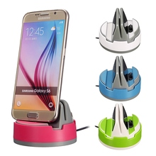 Universal 360 Degree Rotate Micro USB Desktop Dock Charger Car Holder Station Power Charging For Samsung Android Mobile Phone