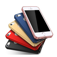 Frosted Fashion Hard Matte Case For iPhone 4 Cases 4s 5s SE iPhone 4s Case 360 Full Cover Plastic Phone Cover Housing Coque(China)