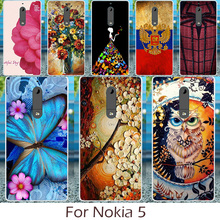 AKABEILA Phone Case For NOKIA 5 Nokia heart 5.2 inch Cover Silicon Soft TPU Cases DIY Painted Shell Back