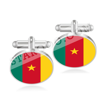Cameroon Canada Cape Verde Cayman Islands Central African Republic Chad Flag Cufflinks(China)