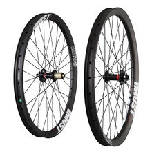 740 all mountain bicycle wheels carbon clincher hookless disc brake 32H rim spokes hole carbon wheel UD matt with Imust brand