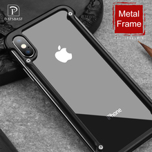 OATSBASF Airbag Metal Case For iPhone X Case Personality Airbag Shell for iPhone X Metal Bumper cover case with Gift Glass Film(China)