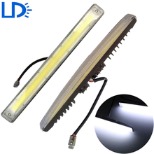 2pc Waterproof Car LED Daytime Running Lights Auto COB LED DRL Xenon White Daylights Auto LEDs Lamp Aluminum 9W Car Lights Lens
