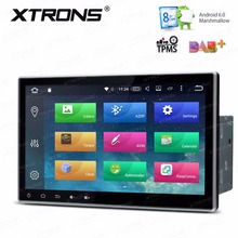XTRONS 2 Din 10.1 inch HD Android 6.0 Octa 8 Core Universal Car Radio Stereo DVD Player GPS Navigate OBD TPMS DAB+Steering wheel