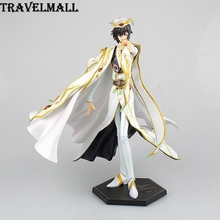 TraVelMall New Anime Lelouch of the Rebellion R2 Lelouch vi Britannia 24cm PVC Action Figure Toy Doll for Code Geass kids gift