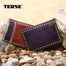 TERSE_Fashion rivet clutch bags handmade genuine leather ipad bag wrist bag for men luxury brand engraving service dropshipping