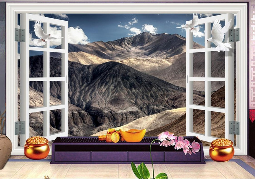 Custom wallpaper chinese style Outside the dream snow mountain 3d wallpapers for wall modern wall paper<br>