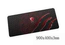 msi mouse pads 900x400x3mm pad to mouse notbook computer mousepad best seller gaming padmouse gamer to large keyboard mouse mat(China)