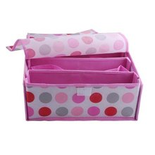New bra storage box dot shape high quality 36*32*14 cm  low price free shipping