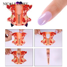 100pcs roll Oval Shape Adhesive Nail Form for Acrylic/UV Gel Nail Tips Nail Extension Nail Art Tool(China)