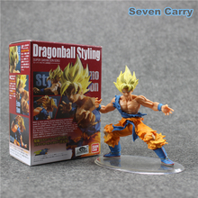 Anime Dragon Ball Z Styling Super Saiyan Son Goku Head Movable PVC Action Figure Collectible Model Toy Boys Girls Christmas Gift(China)