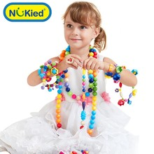 Colorful Kids Educational Toys Baby Children Fingers Flexible Training Science Baby Beads Toys DIY Girls Toys