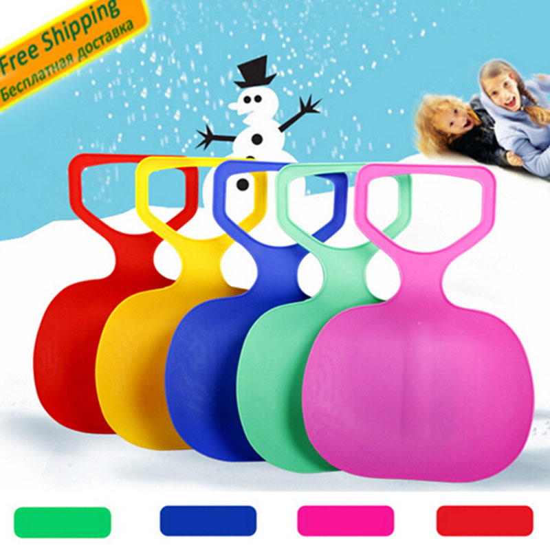 Sports Skiing Pad Sled Board For Kids Adult Children Winter Thicken Plastic sand Grass Sledge Snow luge Outdoor equipment(China (Mainland))