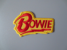 Memorial rock star David Bowie Embroidery Patches for Jacket Back Vest Motorcycle Club Biker  	7.6*4.6cm