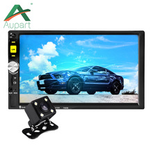 New 7 Inch Touch Screen HD 1080P 7080 2 Din Car MP5 Player Auto Car MP4 Video Player Radio Remote Control With Rear View Camera(China)