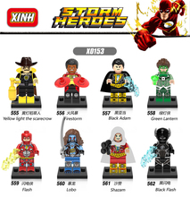 Yellow Light The Scarecrow Firestorm Black Adam Green Lantern Flash Lobo Shazam Building Figure Toys Compatible With Lego