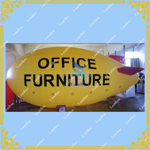 Top Selling 8m/26ft Long Yellow Inflatable Zeppelin for Different Events,Inflatable Airship,Helium Blimp for Advertisement