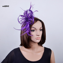 Purple  Sinamay Fascinator feather fascinator sinamay loops formal hat for weeding races party Melbourne Cup.FREE SHIPPING