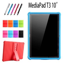 "Buy Case Huawei MediaPad T3 10 AGS-W09 / L09 / L03 9.6"" Tablet case, New Thickening Shockproof Silicone Back stand cover child for $13.18 in AliExpress store"