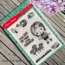 The little girl Scrapbook DIY photo album card hand account chapters rubber product transparent seal stamp