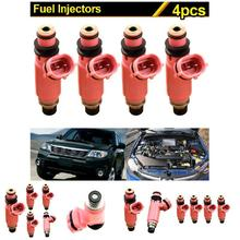 4Pcs Car Styling Fuel Injector 16611-AA370 For Subaru Pink 565cc STI WRX Forester 16611AA370 CSL2017(China)