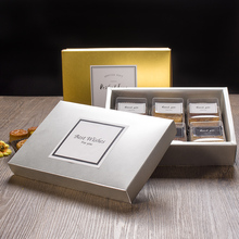 22.5*15.5*5cm Gold and Sliver Cookie Mooncake Gift Paper Box Macaron Chocolate Box 100pcs\lot Free shipping(China)