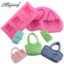 Mujiang Bags Candy Silicone Mold Sugarcraft Fondant Cake Decorating Tools 3D Baking Cake Chocolate Molds Soap Polymer Clay Mould(China)