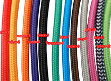 Free shipping many colors UL certificate Coloured ROUND Braided Fabric Cable. Lighting Lamp Flex. Vintage Industrial(China)