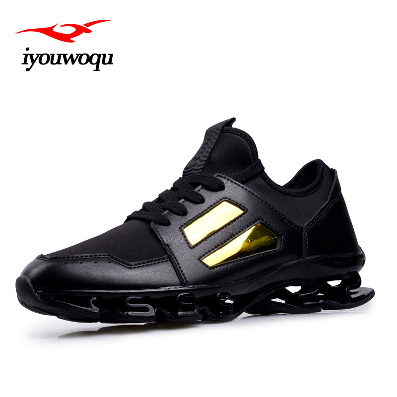 Cool Mens Running Shoes 2016 New Autumn Cool Sequins Mixed Colors Outdoor Sports Shoes 98 Black Gold Size 39-44 Sneakers Men<br>