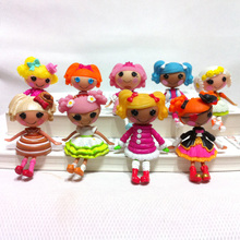 2pc/lot  3inch  Lalaloopsy dolls accessories Mini Dolls  For Girl's Toy PlayHouse Each Unique