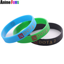 6 pcs/set Fashion DOTA 2 Games Silicone ID Bracelets Bangles Wristbands charms Jewelry Gift for women men(China)