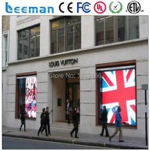 MBI 5042 drivers IC led video wall display/led wall display/wall glass led display P10 transparent wall glass led screen