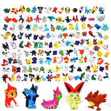 3cm 24 pcs Japanese Pokeball figures set 2016 New pokeball pikachu charizard  doll Gift lot for kid party supply decor