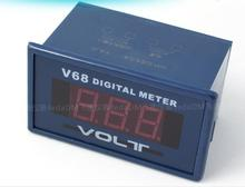 100PCS Digital AC 0-600V Voltmeter meter Voltage Testing Meter Red LCD Panel Display Voltage meter tester 75*40*55mm