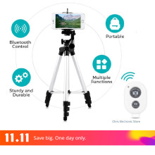 Mesuvida Professional Aluminum Mobile Tripod Flexible DSLR Tripod Stand +Phone Holder Camera Tripod For Smartphone Iphone