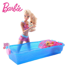 Original Barbie Doll Sexy Princess Dress Barbie Clothes Swimsuit Dog Swimming Play Game Race With Gift Box For Girl X8404(China)