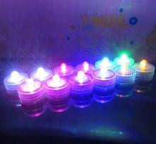 Submersible candle Underwater Flameless LED Tealight Waterproof electronic candles lights Wedding Birthday Party Xmas colorful