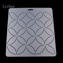 Lychee 1pc DIY Coin Floral Pattern Acrylic Quilt Template Patchwork Tools Handmade Quilting Stencil Craft Sewing Tool(China)