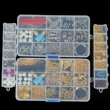DIY Earring Findings Material Beads Cup/Earring Hook/beads Tassel Pendant/Jump Rings/Pins Box Sets Findings for Jewelry Supplies(China)