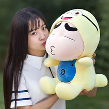 Free shipping 35cm=13.8'' Japanese Anime Shin-chan Figure plush toy,Minions Clothes Naughty Crayon Shin Chan Stuffed Plush Doll