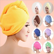 free shipping Lady Turban microfiber fabric thickening dry hair hat super absorbent quick-drying hair Shower cap Bath towel
