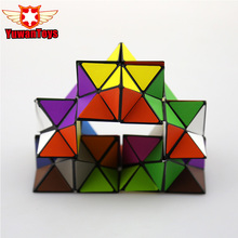 ABS Magic Cube Combo Infinity Cube For Stress Relief Anti Anxiety Stress Funny EDC Magic Cube Hot Selling Educational Brain Toy(China)